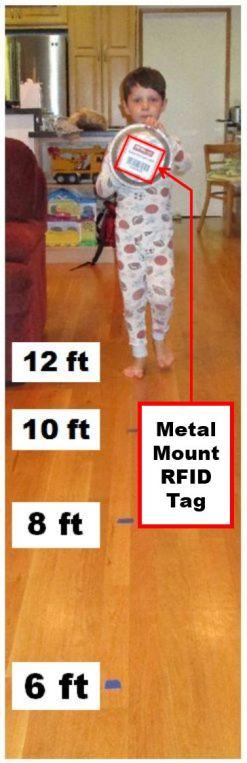 Testa RFID-märkområden