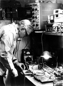 John Wiegand at his lab bench