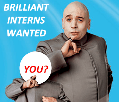 two men wanting interns