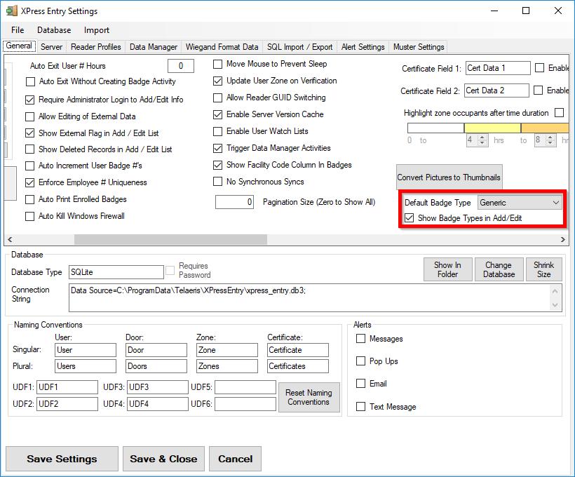 バッジの種類を表示する方法