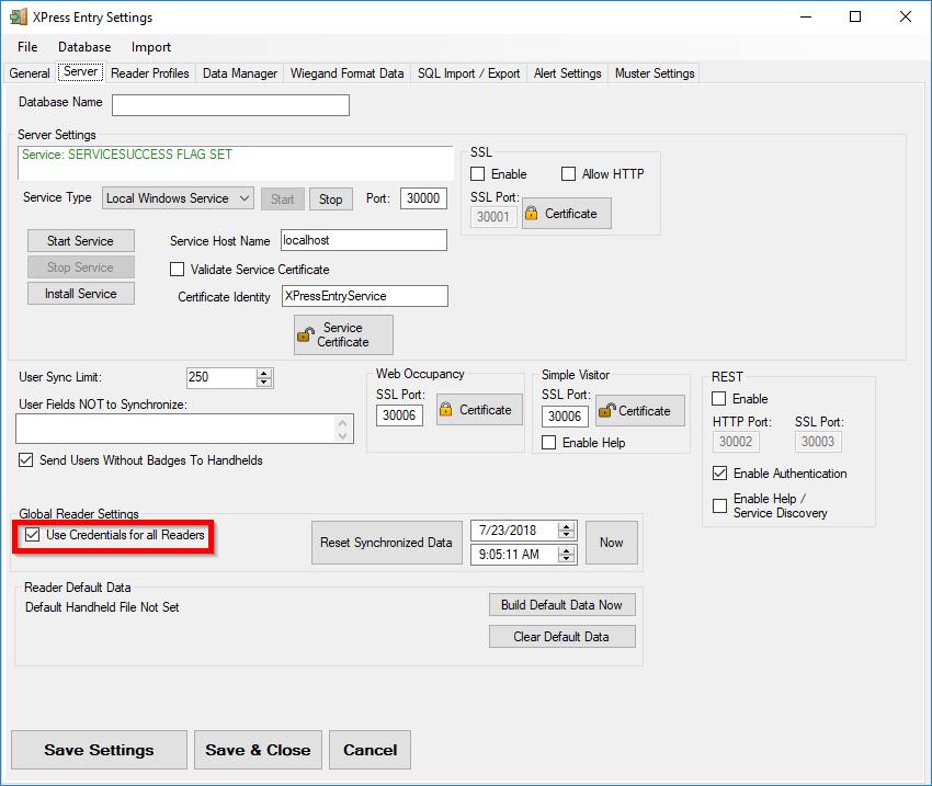 XPressEntryEnableCredentials