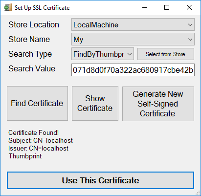 xpressentry certificate