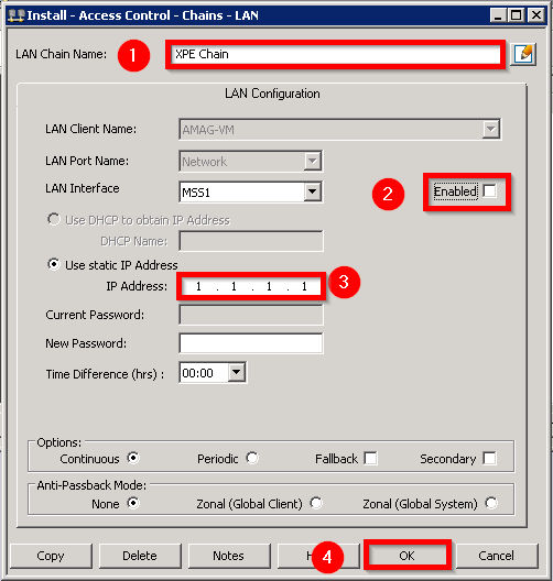 simetría de Amag añadir una cadena LAN