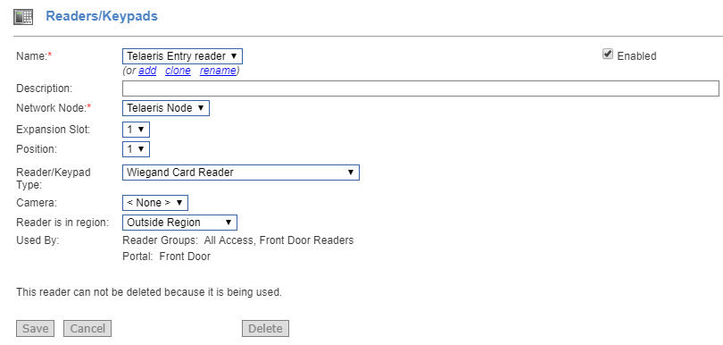 netbox에 논리 xpressentry 핸드 헬드 생성하기 s2 - 독자 키패드