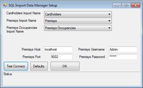 xpressentry data manager set up identicard premisys
