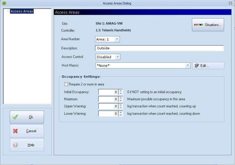 xpressentry کھلی اختیارات تک رسائی کے علاقے