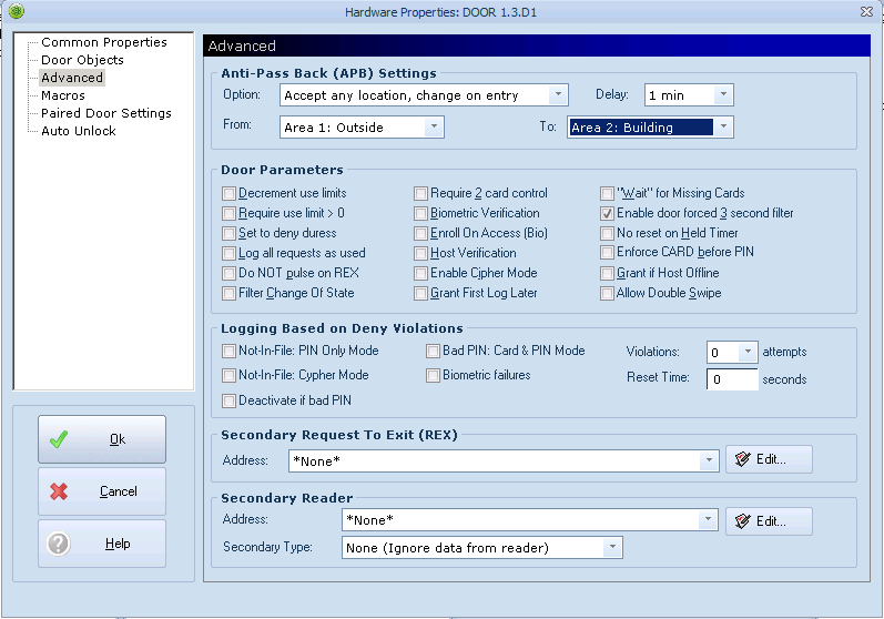 xpressentry open options advanced