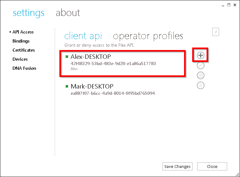 xpressentry open opties maken een flex api-sleutel