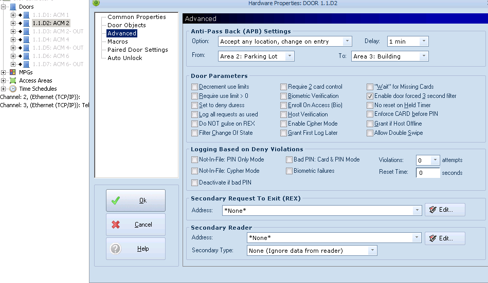 xpressentry open options doors dna fusion