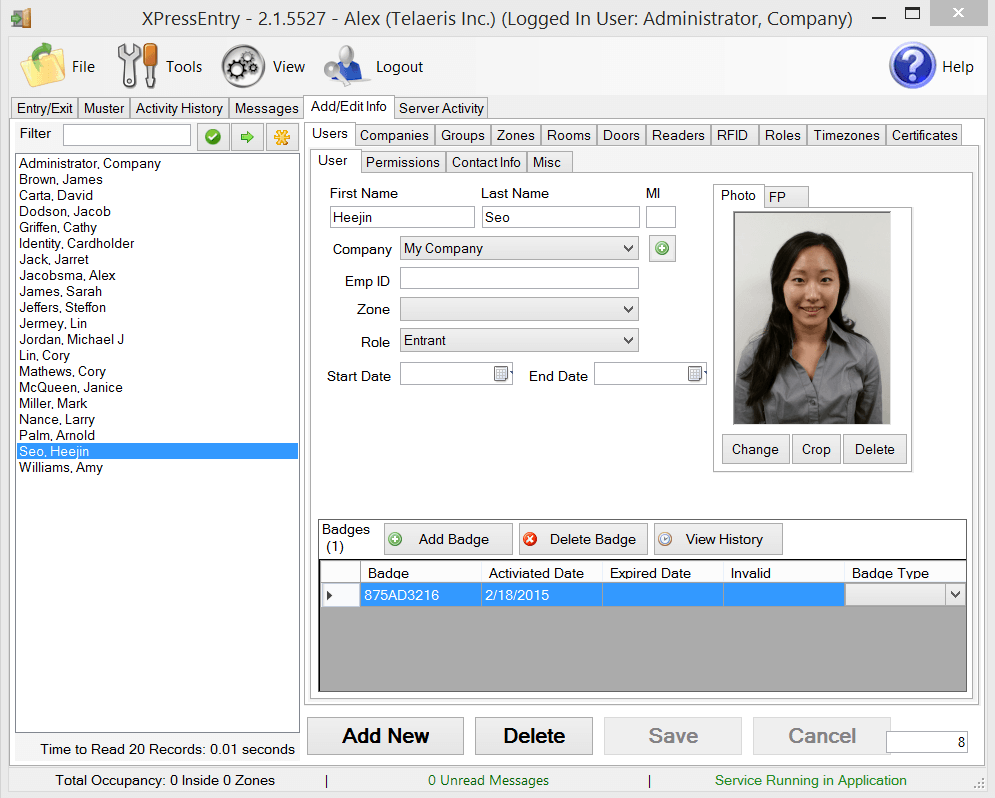xpressentry gebruikers