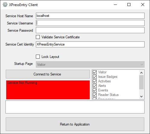 Configurações do cliente