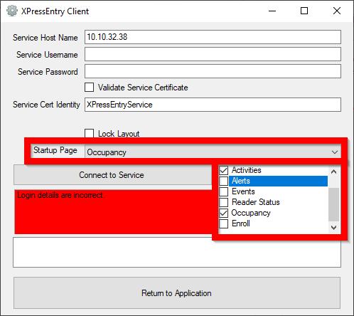 Configurações do cliente configuradas