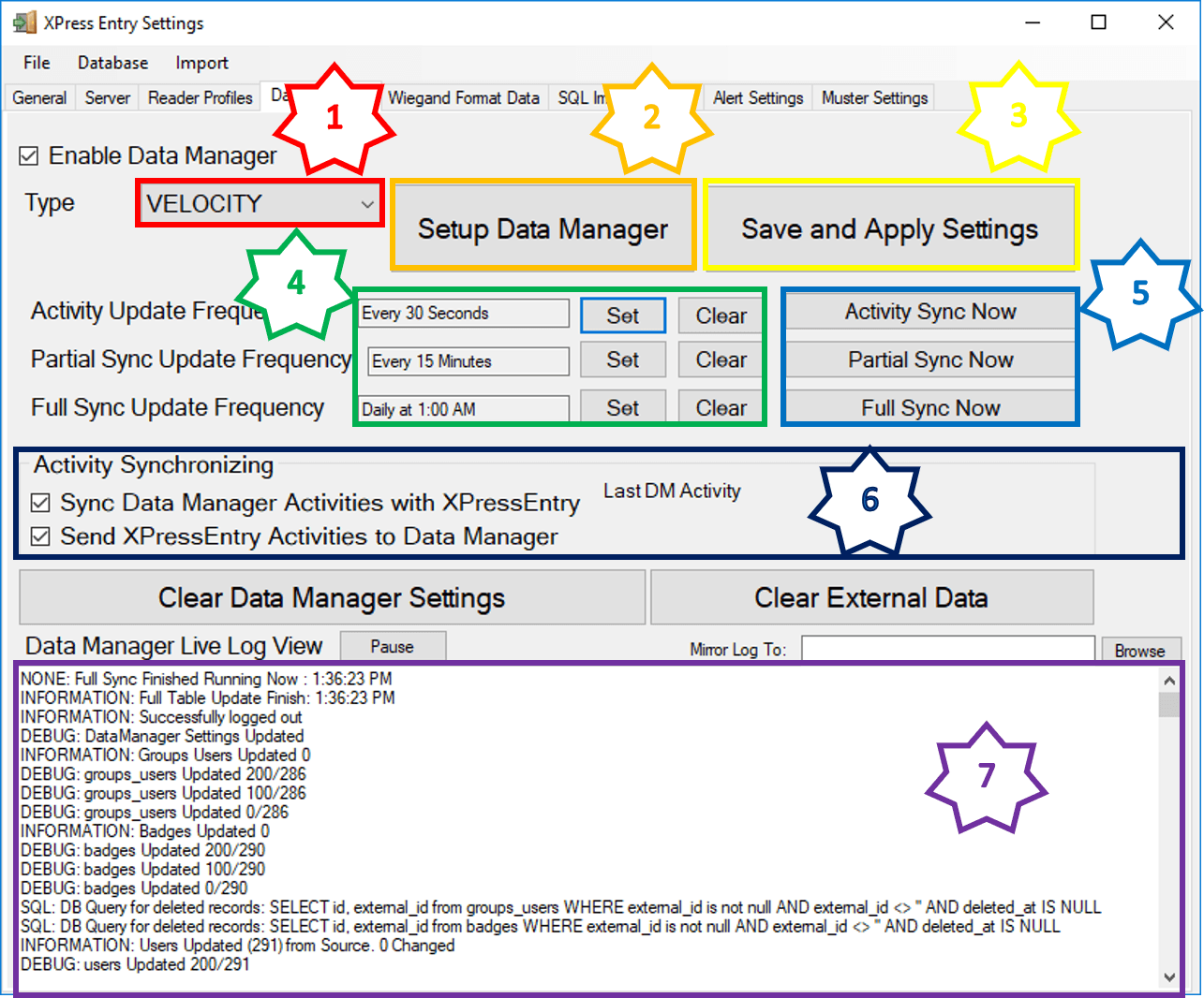 enable synchronization in xpressentry - data manager tab