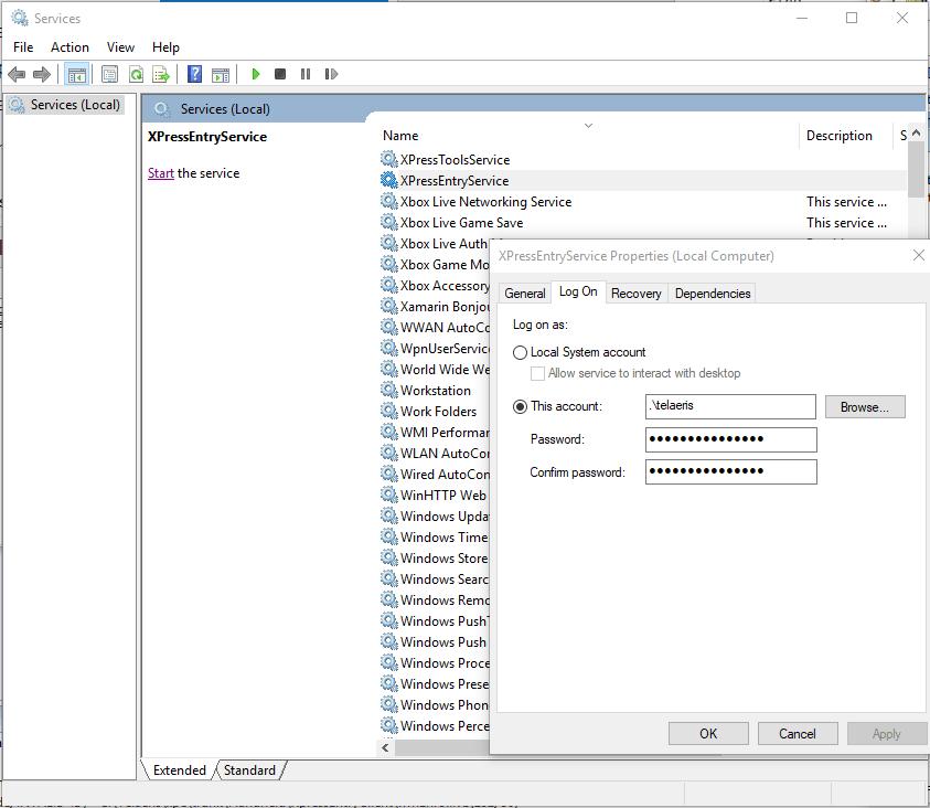 mag-login sa xpressentry service
