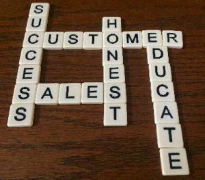scrabble related to customers and sales
