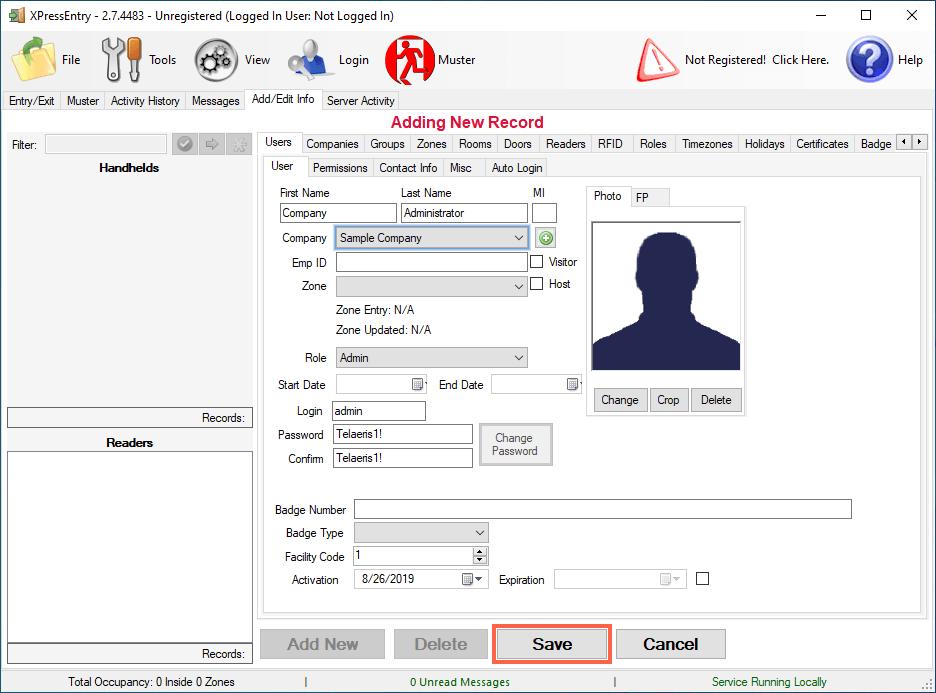 xpressentry admin istifadəçi əlavə edin