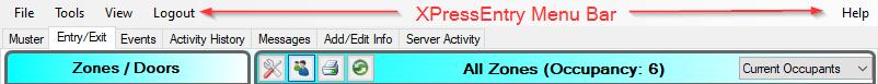 xpressentry menu bar