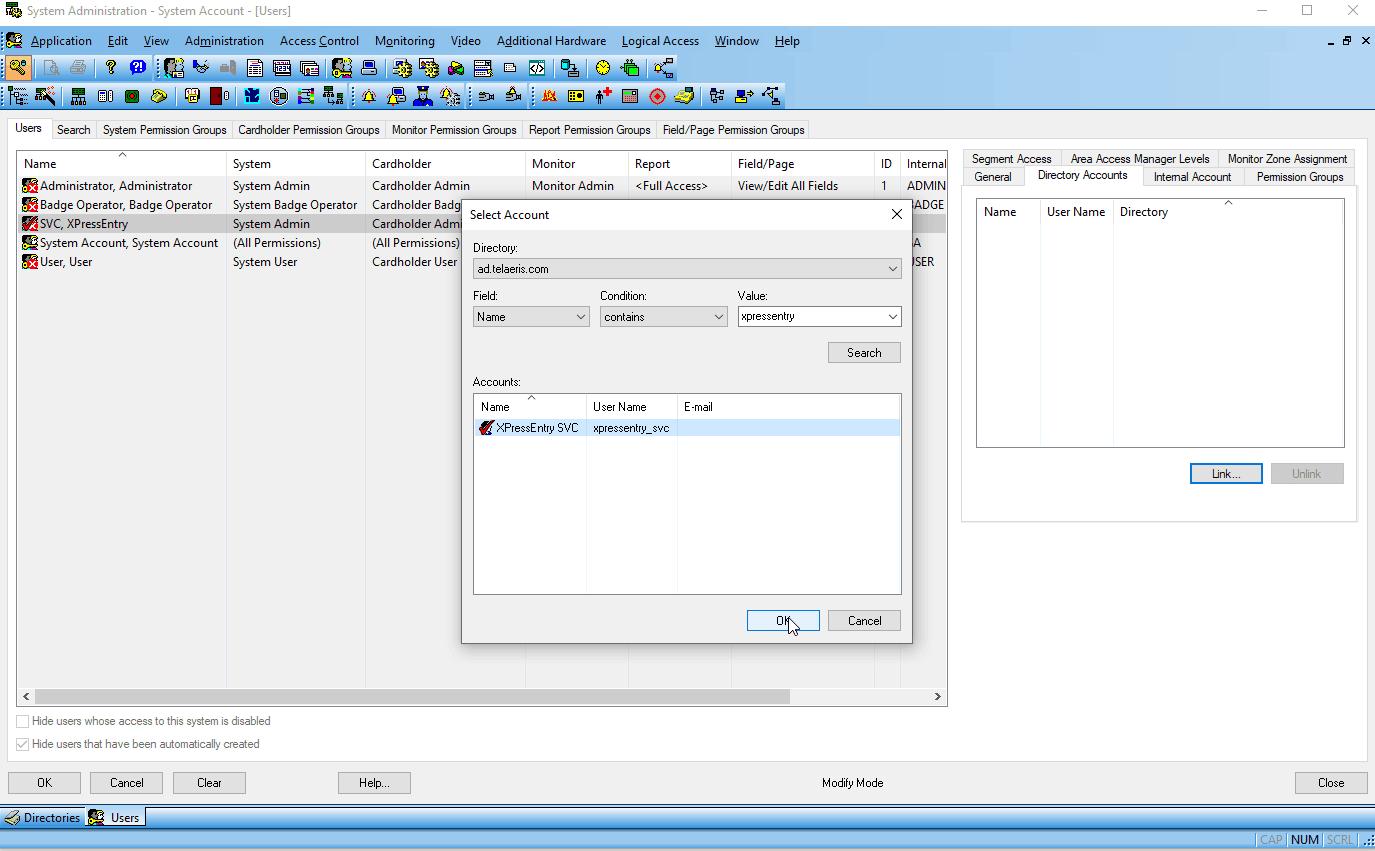 lenel onguard تسجيل الدخول الأحادي - إنشاء خدمة ربط المستخدم