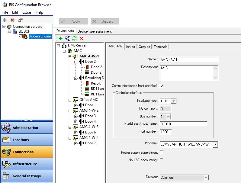 BIS-konfigurasie blaaierverbinding