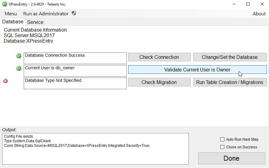 xpressentry ներկայիս օգտագործողը