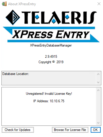xpressentry license
